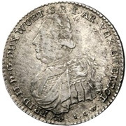 10 kreuzer Frédéric II – avers