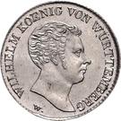 20 kreuzer Guillaume Ier – avers