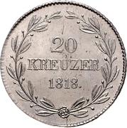 20 kreuzer Guillaume Ier – revers