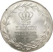1 thaler Guillaume Ier (Kronentaler) – revers