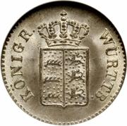 1 kreuzer Guillaume Ier – avers
