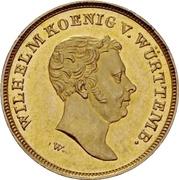 10 gulden Guillaume Ier – avers