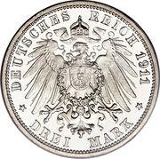 3 mark Guillaume II – revers