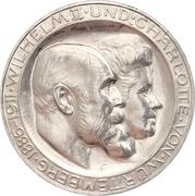 3 mark Guillaume II (Haut H) – avers