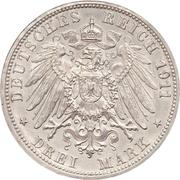 3 mark Guillaume II (Haut H) – revers