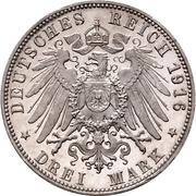 3 mark Guillaume II (25 ans de règne) – revers