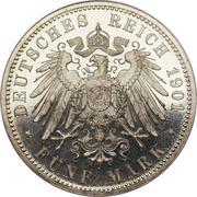 5 mark Guillaume II – revers