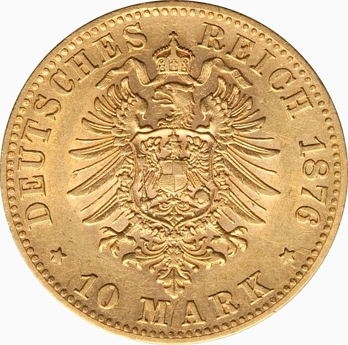 10 Mark Karl Royaume De Wurtemberg Numista