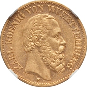 10 mark Charles Ier – avers