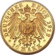 10 mark Guillaume II – revers