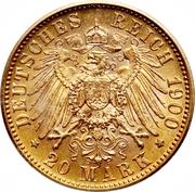 20 mark Guillaume II – revers