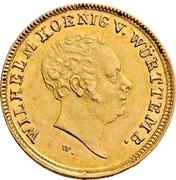 5 gulden Guillaume Ier – avers