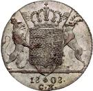 1 ducat Frédéric Ier (frappe essai en argent) – revers