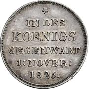 10 gulden Guillaume Ier (frappe essai en argent; visite de la monnaie) – revers