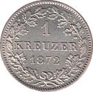 1 kreuzer Charles Ier – revers