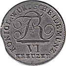 6 Kreuzer Frédéric Ier – avers