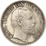 ½ gulden Charles Ier – avers