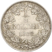½ gulden Charles Ier – revers