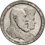 3 Mark - Wilhelm II. (Silver wedding anniversary) – avers