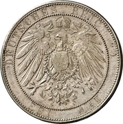 3 Mark - Wilhelm II. (Silver wedding anniversary) – revers