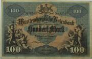 100 Mark (Württembergische Notenbank) -  avers