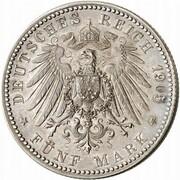 5 mark Wilhelm II (Essai) – revers
