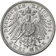 2 mark Wilhelm II (essai) – revers