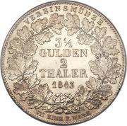 2 Thaler / 3½ gulden Guillaume Ier – revers