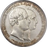 2 thaler / 3½ gulden Guillaume Ier (Marriage) – revers