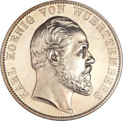 2 thaler / 3½ gulden Charles Ier (Cathédrale d'Ulm) – avers