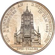 2 thaler / 3½ gulden Charles Ier (Cathédrale d'Ulm) – revers