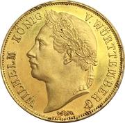 4 ducats Guillaume Ier (25ème anniversaire du reigne) – avers