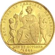 4 ducats Guillaume Ier (25ème anniversaire du reigne) – revers