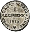1 kreuzer Guillaume Ier – revers