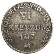 6 kreuzer Guillaume Ier – revers