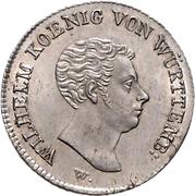 10 kreuzer Guillaume Ier – avers