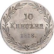 10 kreuzer Guillaume Ier – revers