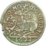 ½ Gulden - Julius Friedrich (Kipper) – revers