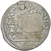 ½ Gulden - Julius Friedrich (Kipper; Hirschgulden) – revers