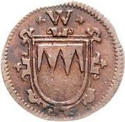 1 Kreuzer - Johann Gottfried von Aschhausen – avers
