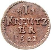 1 Kreuzer - Johann Gottfried von Aschhausen – revers