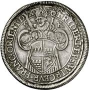 1 Guldenthaler - Friedrich von Wirsberg – avers