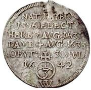 1 Groschen - Franz von Hatzfeld (Death; Sterbegroschen) – revers