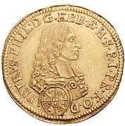 1 Goldgulden - Peter Philipp von Dernbach (Neujahrsgoldgulden) – avers