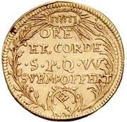 1 Goldgulden - Peter Philipp von Dernbach (Neujahrsgoldgulden) – revers