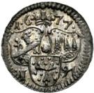 1 Pfennig - Peter Philipp von Dernbach – avers