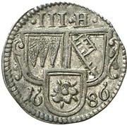 3 Heller - Johann Gottfried II. von Guttenberg – avers