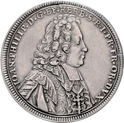 ½ Thaler - Johann Philipp II. von Greiffenklau – avers