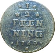 ½ pfennig Adam Friedrich – revers