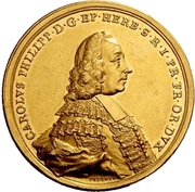 6 Ducat - Karl Philipp von Greiffenklau-Vollraths (Consecration as Prince-Bishop) – avers